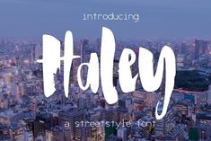 Haley Font by SophieSaxo on @creativemarket