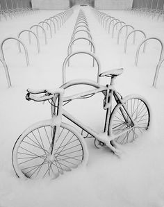 Snow Bike #cycling #snow #winter