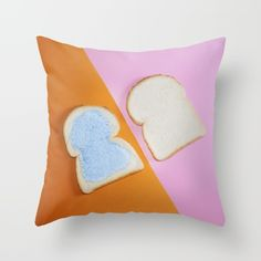 """""""PAINT IT BREAD 1""""  $20.00  https://society6.com/product/paint-it-bread-1_pillow#25=193&18=126  MADE BY: NAOMI ROTHENGATTER - DIAZ"""