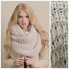 """🚫HOLD TS Ivory Extra Large Knit Infinity Scarf ‼️PRICE FIRM‼️   Absolutely gorgeous, HUGE, thick and warm infinity scarf.  Lots and lots of stretch so you can get that perfect look! 100% acrylic.  Please check my closet for many more fashion items.  38"""" long  20"""" wide Boutique Accessories Scarves & Wraps"""