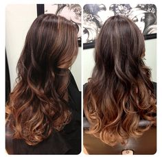 Ombre' with balayage through the top and heavier around the face