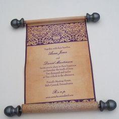 Such a cool medieval wedding invitation!