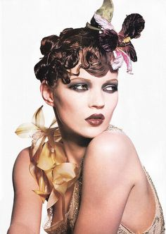 Changing Faces | Kate Moss by Irving Penn for Vogue, January 1995 #fashion…