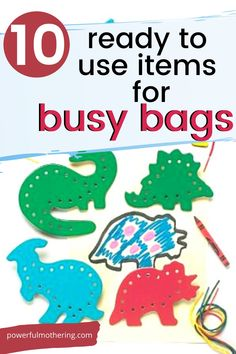 Check out these busy bags that require no prep on your part! These busy bags are the best around for fine motor, color sorting and a host of other skills! Craft Activities For Kids, Preschool Activities, Busy Bags, Toddler Preschool, Fine Motor Skills, Sorting, Arts And Crafts, Teaching, Business