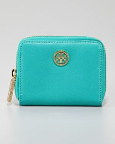 Robinson Zip Coin Case, Turquoise - Neiman Marcus- thought of Charlene :)