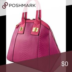 SALE!!!🍁Designer Croc Top Handle Bag🍁 Zipper top closure Textured faux leather Inside lining with zip/open pockets Rear zipper pocket 16 inch handles & 51 inch adjustable strap 17 (W) x 4.5 (D) x 11.5 (H) inches                                  Color: Fuchsia.                                                            Was $72 now on SALE for $62 Boutique Bags Shoulder Bags