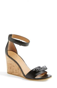 Free shipping and returns on MARC BY MARC JACOBS 'Logo Disc' Wedge Sandal (Women) at Nordstrom.com. A perennially chic ankle-strap sandal stays fresh with a cork wedge and a signature logo-disc bow.