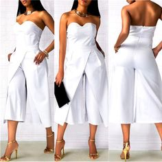 Neue Frauen-Damen clubwear Sommer-Spielanzug bodycon party Overall Strampler Hos White Fashion, Look Fashion, Womens Fashion, Fashion Design, Feminine Fashion, Cheap Fashion, Ladies Fashion, Fashion Ideas, Fashion Trends
