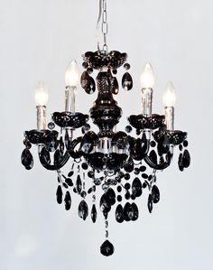 black chandelier elegant modern