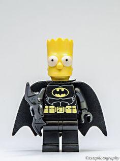 Lego Simpson Bart Batman Minifigures Bartman