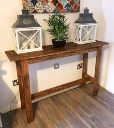 pallet side table side table console table pallet console