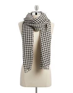 Jewellery & Accessories   Scarves, Gloves & Hats   Marte Checkered Wool Scarf   Hudson's Bay