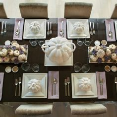 In Living Color Beautiful Monochromatic Table for Thanksgiving/Fall
