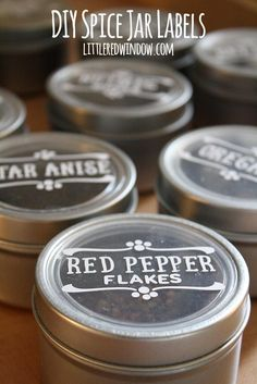 Magnetic Spice Jar Labels More