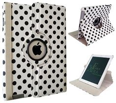 Xtra-Funky Exclusive iPad 2 / 3 / 4 Polka Dot Spots PU Leather 360 Degree Rotating Smart Case with Auto Wake / Sleep Function + Screen Protector and Soft Tipped Stylus - WHITE Xtra-Funky http://www.amazon.ca/dp/B00FCL9CW4/ref=cm_sw_r_pi_dp_Hjg7vb1RY4JD2