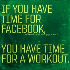 Make time for workout, you deserve it