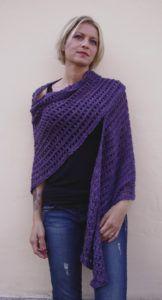 Demeter fine lace triangular shawl Pima cotton FREE pattern download