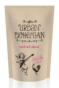 The Urban Bohemian Coffee by Lost & Found, via Behance. http://www.studiolostandfound.com/