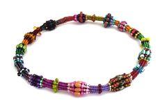 Colourful Herringbone Rope - image copyright © Jean Power