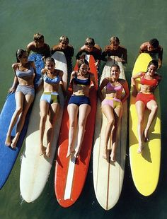 California surfer boys and girls, photo by William Connors, 1965