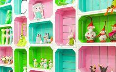 BabyZone: 10 Repurposed Toy Storage Ideas | Wooden Crate Wall Storage