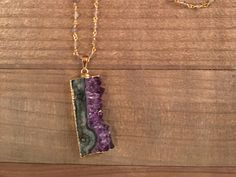Amethyst and Labradorite Necklace by ElidaCreations on Etsy