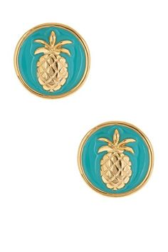 Fornash  Enamel Pineapple Earrings