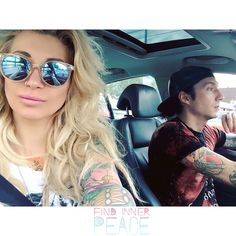 Jake Pitts and his wife Inna Pitts in the car 2016
