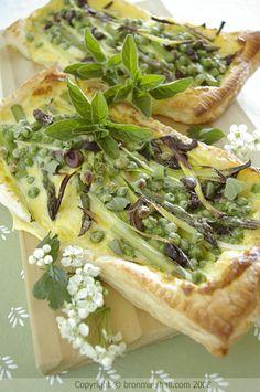 Cottage Tart with Spring Asparagus, Lemon and Olive  | Bron Marshall