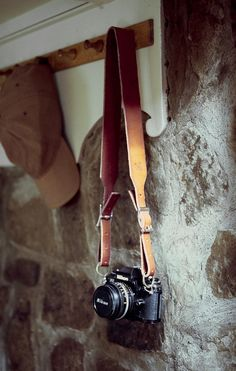 Camera Strap ~ leather, in cognac | Arcane Supply Co.