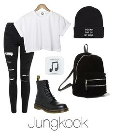 """""""Jungkook Inspired w/ Dr. Martens"""" by btsoutfits ❤ liked on Polyvore featuring Topshop, Vans, J.Crew, CC, Dr. Martens and Steve Madden"""
