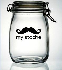 My Stache Mustache Moustache Vinyl Decal Sticker  by meandmy3boys, $4.50