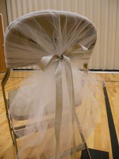 Decorating With Burlap Tablecloths | Decorating hideous chairs.... - Project Wedding Forums