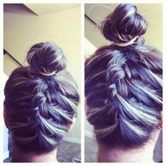 #hair #style #braids #bun