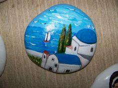 ΔΙΑΚΟΣΜΗΤΙΚΗ ΖΩΓΡΑΦΙΚΗ ΣΕ ΞΥΛΟ ΚΑΙ ΠΕΤΡΑ: ΚΑΛΟΚΑΙΡΙΝΑ ΠΡΟΣΩΠΑ ΚΑΙ ΤΟΠΙΑ ΑΠΟ ΕΚΘΕΣΕΙΣ Pebble Painting, Pebble Art, Stone Painting, Painted Rocks Craft, Painted Stones, Painted Pebbles, Dawn Stone, Painted Shells, Rock And Pebbles