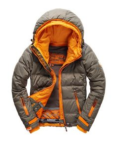 b64366b8b6c Shop Superdry Mens Elements Ski Jacket in Shot Grey   Jaffa. Buy now with  free delivery from the Official Superdry Store.