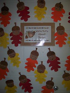 """Change the sign to """"nuts about Kindergarten"""" have the kids draw a picture of their favorite thing so far, try invented spelling. Hang up right before conferences."""