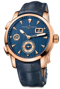Ulysse Nardin – Dual Time Manufacture. It's a new world for the men's Dual Time. Modern and original design.