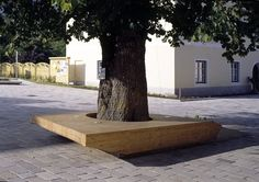 Bench in village Square, Zweinitz, Austria by Söhne & Partner. Click image for full project and visit the slowottawa.ca boards >> http://www.pinterest.com/slowottawa/