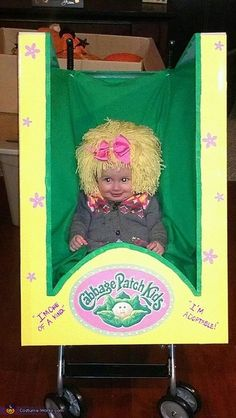 Cabbage Patch Doll - the kid is creepy but the stroller box is great