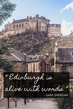 'Edinburgh is alive with words' - Sara Sheridan - Edinburgh Quotes: Sayings about the Scottish capital you need to know before you go. Here's your guide to the best quotes about Edinburgh (literary inspiration and more! Edinburgh Travel, Edinburgh Scotland, Wanderlust Quotes, Travel Quotes, Best Family Vacations, Family Travel, Photography Guide, Beautiful Architecture, Travel With Kids