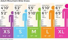 bike frame sizes - Google Search