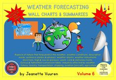 THE NEWLY PUBLISHED WEATHER SERIES by JEANETTE VUUREN is aligned to CCSS & the AUSTRALIAN CURRICULUM and includes the following volumes; HOW IS THE WEATHER? – INFORMATION (VOLUME 1) PDF HOW IS THE WEATHER? – RESOURCES (VOLUME 2) PDF WEATHER FORECASTING – INFORMATION (VOLUME 3) PDF WEATHER FORECASTING – RESOURCES & PRINTABLES (VOLUME 4) PDF WEATHER FORECASTING – MAPS & SYMBOLS (VOLUME 5) PPT WEATHER FORECASTING – WALL CHARTS & SUMMARIES (VOLUME 6) PDF WEATHER FORECASTING – WALL CHARTS…