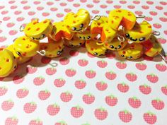 Kawaii Cute Cheese Polymer Clay Charms by ZombiesGoRawr on Etsy, $4.00  I love cheese!