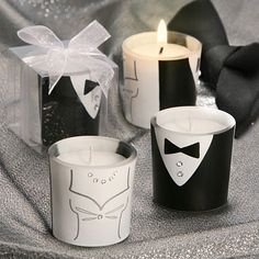 Recuerdos de Boda. Velas aromaticas novia y novio.