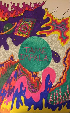 'tame impala' Poster by efisiensi Bedroom Wall Collage, Photo Wall Collage, Collage Art, Arte Pink Floyd, Pochette Album, Psychedelic Rock, Psychedelic Posters, Hippie Art, Arte Pop