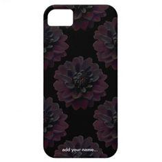 Black Dahlia iPhone 5 Case