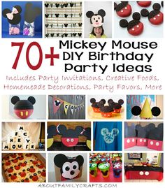 70+ Mickey Mouse DIY Birthday Party Ideas - If you are planning a Mickey Mouse birthday party, make sure you check out all of these wonderful DIY ideas.