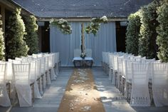 simple white chair covers
