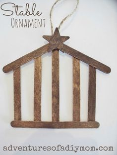 How to Make a Stable Ornament {12 Days of CHRISTmas Ornaments}